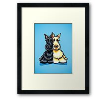 Two of a Kind Scotties Framed Print