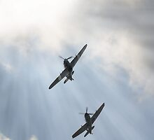 Spitfire and Hurricane by Nigel Bangert