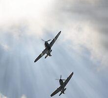 Spitfire and Hurricane by Nigel Bangert