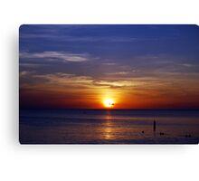 Sunset on Seven Mile Beach Canvas Print