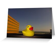 Rubber Ducky Hero Greeting Card