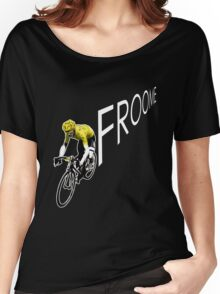 Chris Froome Tour de France 2013 Winner Sky Cycling Women's Relaxed Fit T-Shirt