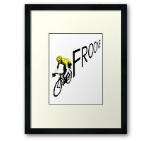 Chris Froome Tour de France 2013 Winner Sky Cycling Framed Print