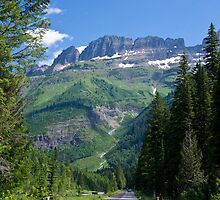 Entering Glacier National Park by David F Putnam