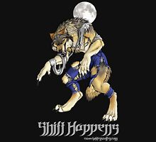 """Shift Happens"" Full Moon Werewolf Unisex T-Shirt"