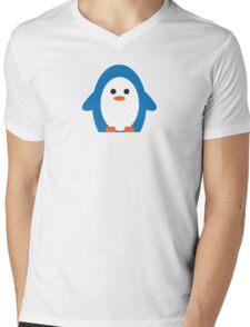 Peddler Penguin Mens V-Neck T-Shirt