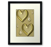 ✿♥‿♥✿SOMETIMES PEOPLE HAVE HEARTS OF GOLD..BUT SOMETIMES THEY CRY✿♥‿♥✿ Framed Print