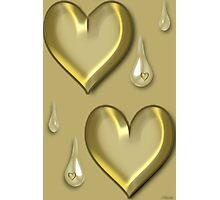 ✿♥‿♥✿SOMETIMES PEOPLE HAVE HEARTS OF GOLD..BUT SOMETIMES THEY CRY✿♥‿♥✿ Photographic Print
