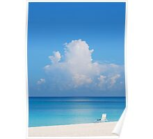 Beautiful Beach In Grand Cayman Poster