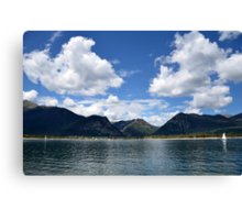 Mountain Lake In Summer Canvas Print
