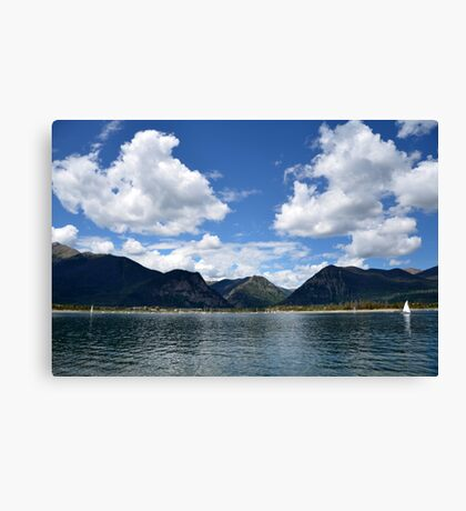 Mountain Lake In Summer Canvas Print