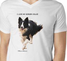 BORDER COLLIE TEESHIRT  -  ON REQUEST Mens V-Neck T-Shirt