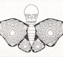 Mandala Death Moth by Emily Perry