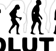 Evolution of an electrician Sticker