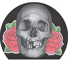 Skull & Rose Photographic Print
