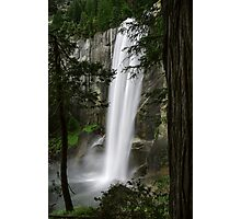 Vernal Fall Behind Trees Photographic Print