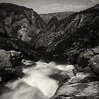 Nevada Falls From Above by jswolfphoto