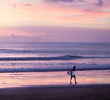 Sunset Surfer by jaymephoto