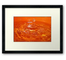 Drop. Framed Print