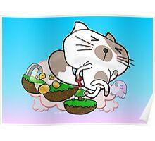 Super Jumpy Cat Poster