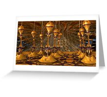 yellow towers Greeting Card