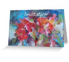 Invitation Cards - Art - Flowers Greeting Card