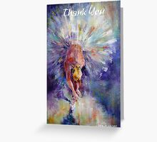 Ballet Dancer Greetings Card - Thank You Cards Greeting Card