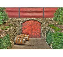 Wine at the Cellar Door Photographic Print