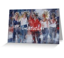 Invitation Greeting Cards - Art - Girls - Friends Greeting Card