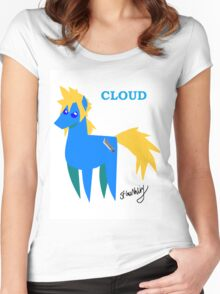 Cloud - BBBFF Version (FFVII & MLP) Women's Fitted Scoop T-Shirt