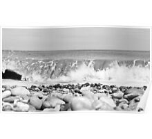 The North Sea,East Coast - Sizewell  (Triptych) Poster