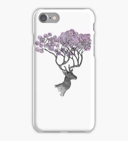 Purple Blossom Antlers iPhone Case/Skin