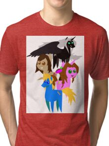 FFVII Cast (In BBBFF Version Of MLP) Tri-blend T-Shirt