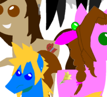 FFVII Cast (In BBBFF Version Of MLP) Sticker