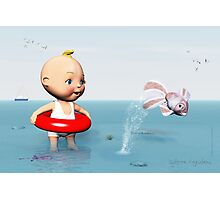 BabyToon and the Fish Photographic Print