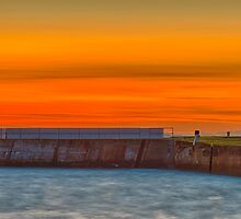 BURGHEAD - THE HARBOUR EXIT AT SUNSET by JASPERIMAGE