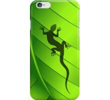 Lizard Gecko Shape on Green Leaf iPhone Case/Skin