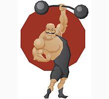 Smiling strong man lift a barbell Unisex T-Shirt