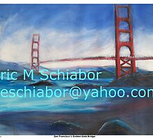 San Fransisco Golden Gate Bridge painting by schiabor