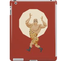 Smiling stron man goes on parade alle in leopard leotard iPad Case/Skin