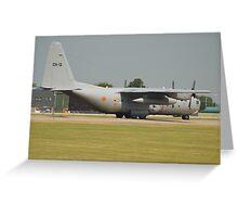 Belgian Air Force C130H Greeting Card