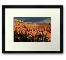 Bryce w/ weather Framed Print