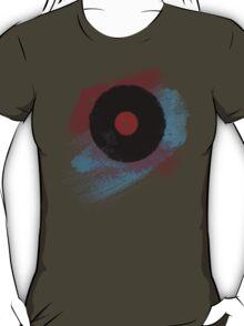 Vinyl Record T Shirt - Modern Vinyl Records T-Shirt Grunge Design T-Shirt