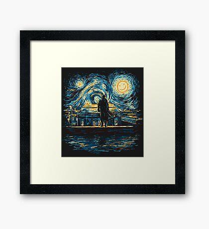 Starry Fall (Sherlock) Framed Print