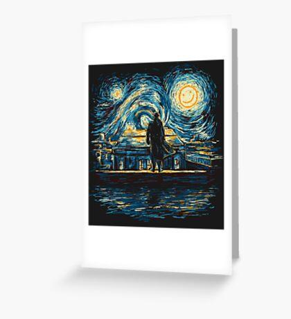Starry Fall (Sherlock) Greeting Card