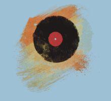 Vinyl Record Retro T-Shirt - Vinyl Records Modern Grunge Design Kids Clothes