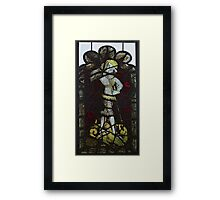Stained Glass, George & The Dragon, Burrell Collection Framed Print