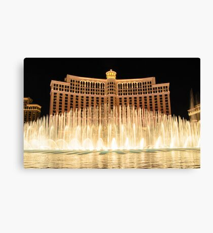 The fountains at Bellagio Canvas Print