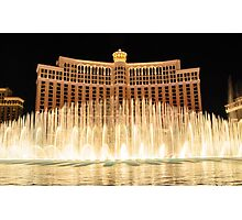 The fountains at Bellagio Photographic Print