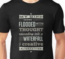 Funny Classic Movie Quote typography from Blazing Saddles by Harvey Korman Unisex T-Shirt